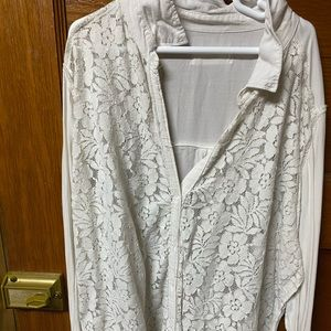 Lace button down, not lace back